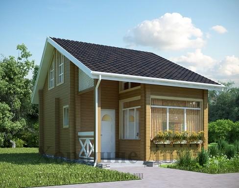 Компактный загородный дом с подвалом (G83), Alfaplanru