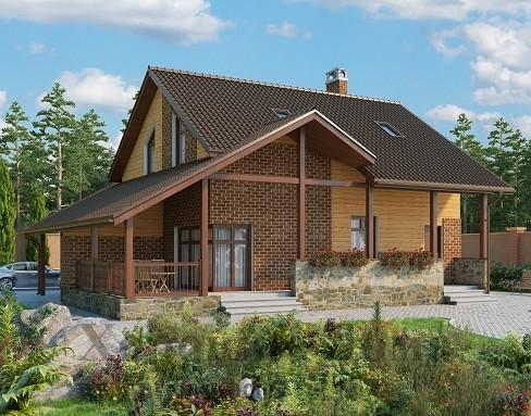 Модель П2 Небольшой дом из пеноблоков размером 5х7 м